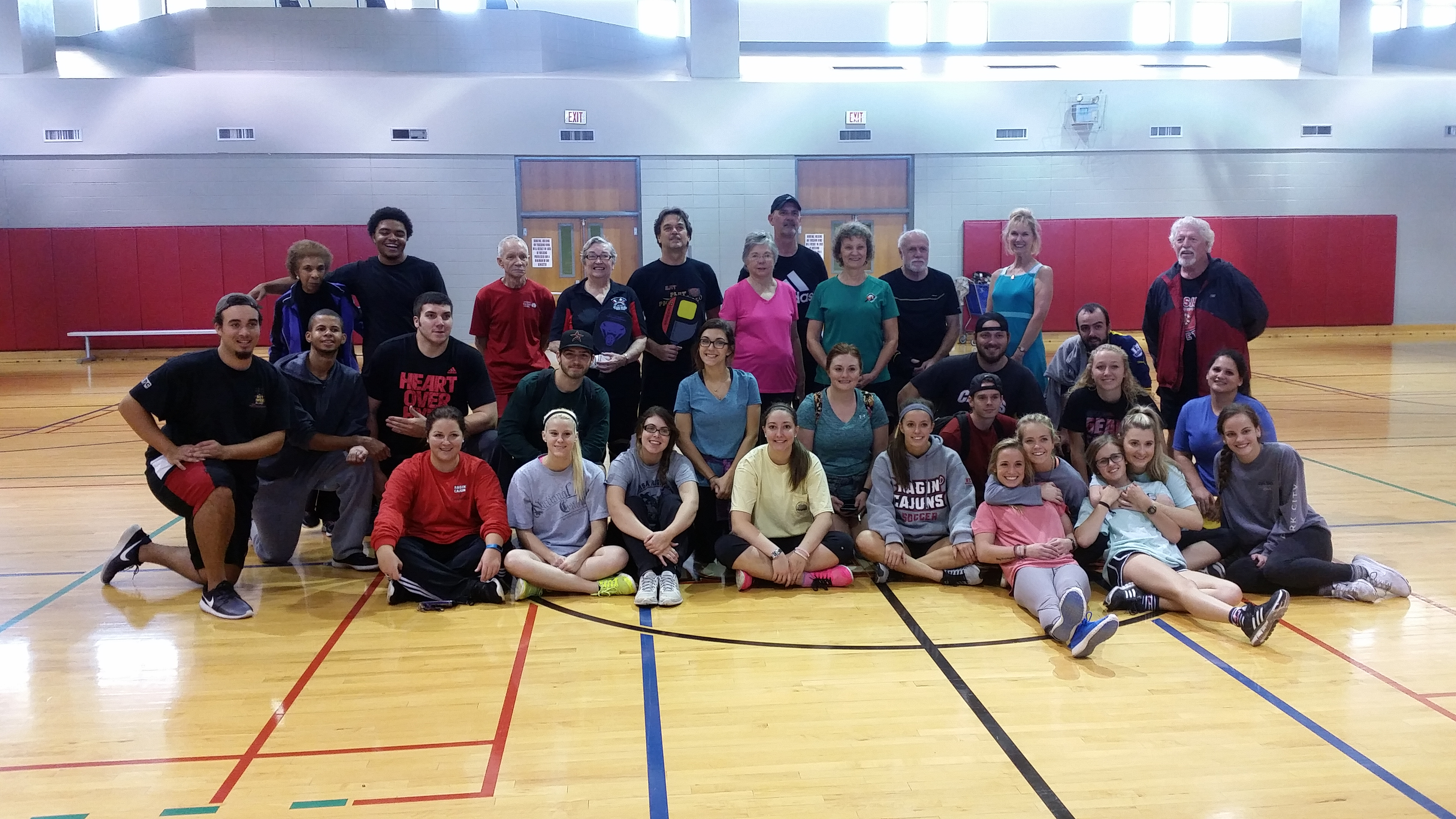Students in the kinesiology program at U L Lafayette
